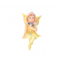 Yellow fairy sitting