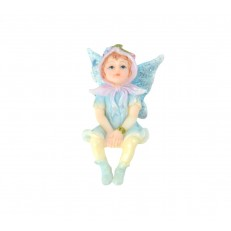 Blue fairy sitting