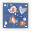 Bird Blue Design Acrylic Frame